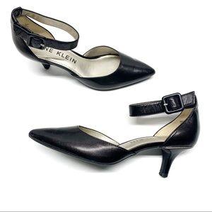 ❤️ Anne Klein Fabulist Black Ankle Strap Heel